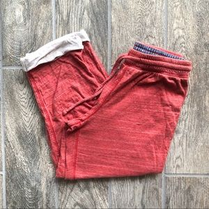 J. Crew Red Cropped Lounge Pants